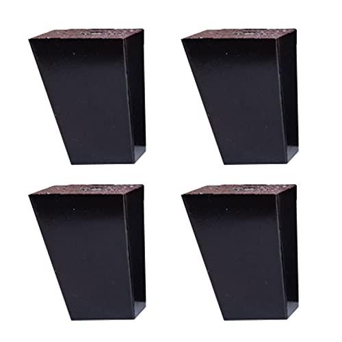 Patas de Muebles de Roble Patas de Mesa de Centro de Madera Maciza Patas de Sofá, Color Madera/Negro, 8cm 10cm 12cm 15cm