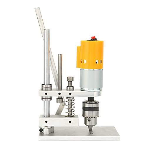 Taladro de banco, taladro eléctrico de banco Taladro de escritorio de bricolaje para la tienda al salir para fácil de llevar para uso doméstico AC110‑240V para bricolaje(JTO (0,3-4 mm))