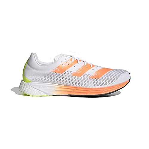 adidas Adizero Pro, Zapatillas para Correr Hombre, FTWR White/Screaming Orange/Solar Yellow, 42 EU