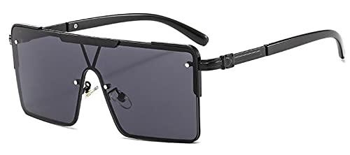 WANGZX Gafas De Sol para Mujer Gafas De Sol Negras Cuadradas De Moda Gafas Retro Punk para Mujer Gafas De Conducción Uv400 C1Blackgray
