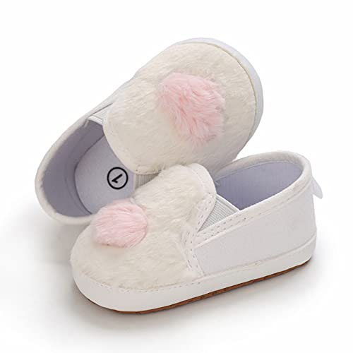 JDGY Zapatos para niños pequeños, zapatos para aprender a andar, zapatos para bebé, transpirables, de verano, felpa, princesa, antideslizantes, para niñas, Blanco, 19