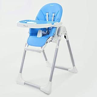 Baby High Chair, Five-point seat belts Portable Folding Adjustable baby High chair baby Feeding Play chair children Double...