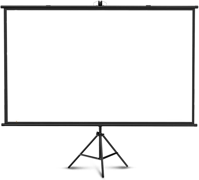 FMOGE Projector Screen,Portable,4:3,16:9,Wrinkle-Free Projection Screen Tripod,for Outdoor Indoor,for Movie,Home Theater,Gaming,Office(100 Inches)