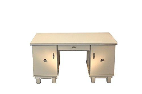 OAM Frei stellbarer Art Deco Schreibtisch in Weiß