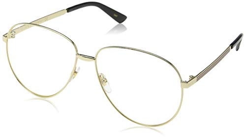 Gucci GG0138S 003 Gold GG0138S Pilot Sunglasses Lens Category 1 Size 61mm