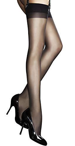 Fiore 20 Denier Sheer kousen - Verkrijgbaar in zwart, wit of bruin