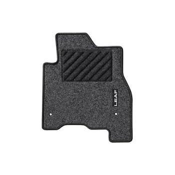 Nissan Leaf 2018 EV Velour Carpet Floor Mats BLUE Stitch New Genuine KE7555S00B