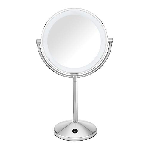 Product Image of the Conair Reflections Double-Sided LED Lighted Vanity Makeup Mirror, 1x/10x...