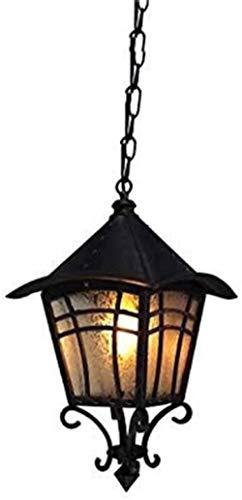 Iluminación Techos de luz colgante Araña de cristal Araña de hierro forjado Moda retro Araña de exterior impermeable Jardín Gazebo Araña Paisaje Pared exterior Iluminación de techo