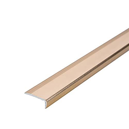Cierre de Escaleras 1,5 M Longitud en Forma de Aluminio de Aluminio Anti Deslizamiento sin Deslizamiento 20x7mm ángulo de ángulo escaleras de Borde Perfiles 2 PCS Exterior e Interior