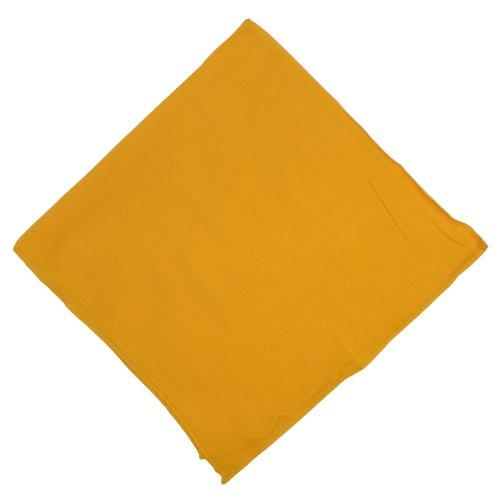 IB IB Halstuch 50x50cm Baumwolle 1A Qualität Einfarbig Bedruckbar Bestickbar Azofrei Uni Tuch Kopftuch Schultertuch Accessoire (1x, gelb)