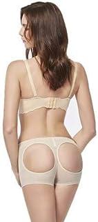 Instant Butt Lifter Bodyshort Shaper Push Up Panties (Beige, M)