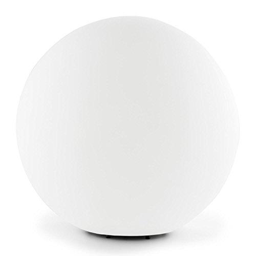 Lightcraft Shineball S - Gartenleuchte, Außenleuchte, 20cm Durchmesser, robuster Kunststoff, Fassung E27, 40 W max, spritzwassergeschützt, winterfest, Erdnägel, einfache Montage, weiß