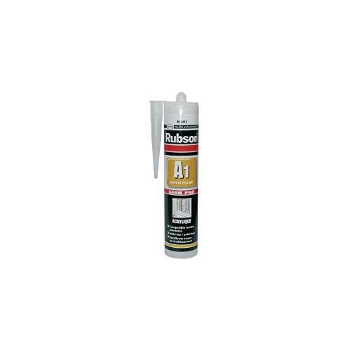 Rubson - Sellador acrílico para sellado y grietas, interior y exterior, blanco, 300 ml
