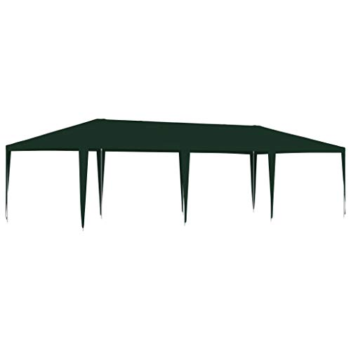 vidaXL Carpa Profesional para Celebraciones Exterior Patio Sombrilla Solar Pabellón Cubre Impermeable Tienda Aire Libre Camping Quiosco Verde