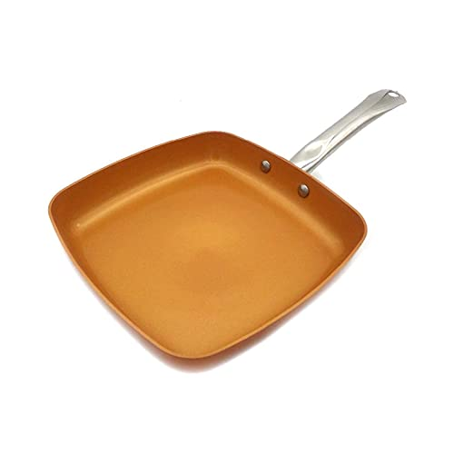 Multi-Purpose Soup 8/10 inch Lid Non-Stick ing Pan Wok Ceramic Coated Copper ing Induction Coong Oven for ing Sauce Dishwasher Free Send Sponge