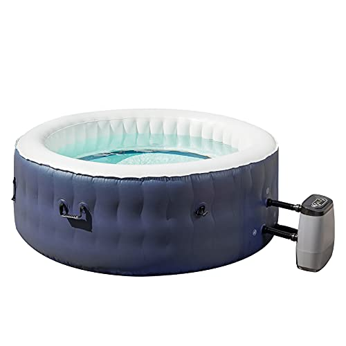U-MAX Inflatable Hot Tub 4 Person Outdoor AirJet Spa with 108 Air Jets, Portable Round Blow up Hot Tub with Tub Cover, Pump, and 2 Filter Cartridges