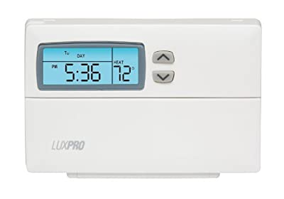 LuxPRO FBA_PSP511LC Thermostat Separate Program for Heating and Cooling