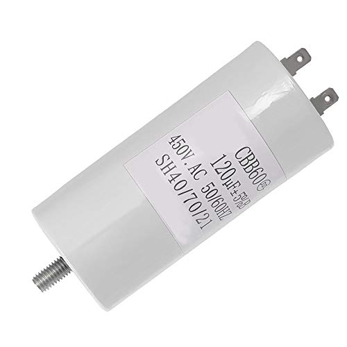 CBB60 Run Capacitor Motor Run Start Capacitor Frequency 50/60Hz 450VAC 450V AC 120uF 120 MFD UL Listed W/Fixing Stud