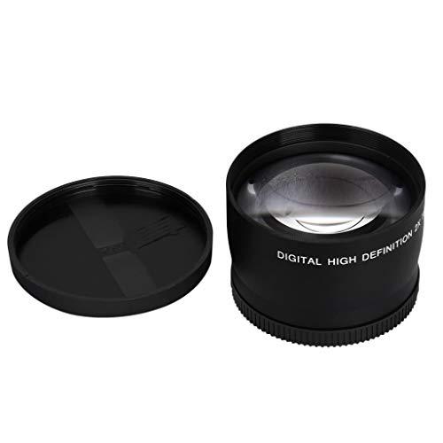 FiedFikt HD 58 mm Teleconverter 2X Kamera-Aufsatz Multicoated Optical Glass Multiplier for All 58 mm SLR and Digit Teleconverter Lens High Performance Optical Glass Advanced Coating Technology