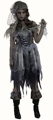 Womens Zombie Pirate Costume Fancy Dress