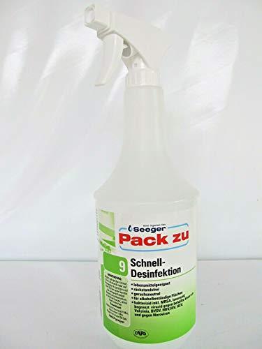 Seeger Pack zu 9 Schnelldesinfektion 1L