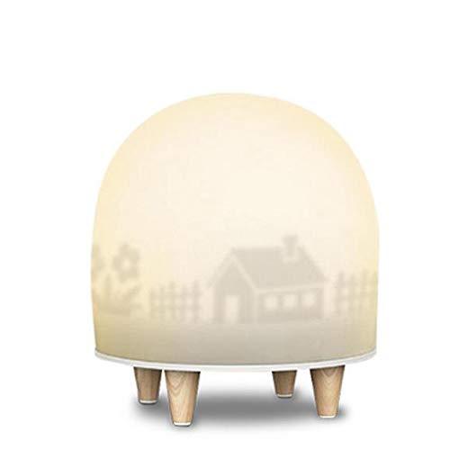 L&B-MR Lámpara De Mesilla Dormitorio con Silueta De Carga USB para Dormir Luz Suave Colorida Inducción del Cuerpo Humano Luz Nocturna Led Lámpara Decorativa Táctil Creativa De Dibujos Animados