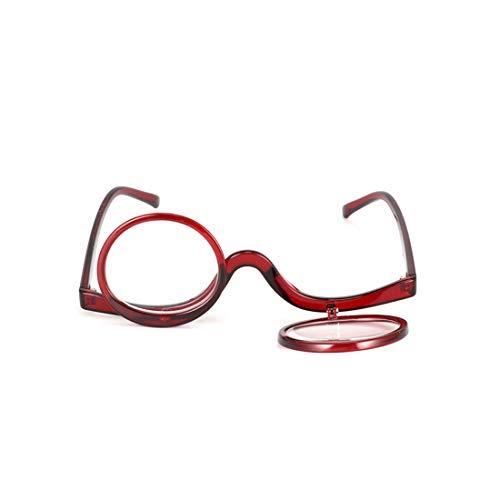 Inlefen Gafas de lectura Gafas de maquillaje Multipropósito Tapa del tirón De las mujeres Gafas de lectura +1.0 a +3.5