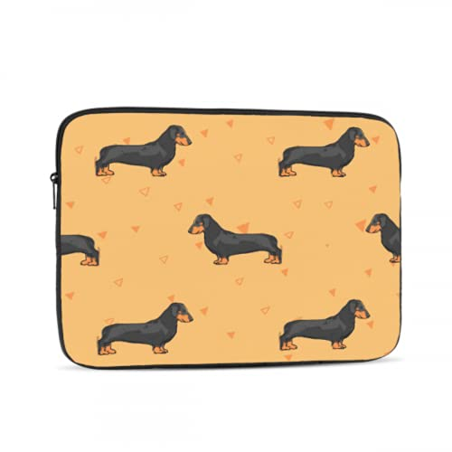 Mac 13 Inch Case Cute Pet Smart Animation Dog Dachshund Macbook Pro 13 Cover Multi-Color & Size Choices10/12/13/15/17 Inch Computer Tablet Briefcase Carrying Bag