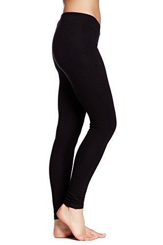 HUE Basic Cotton Leggings (Small, Graphite...