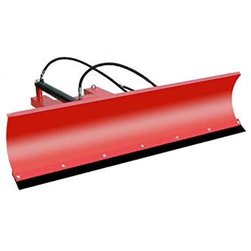 Sneeuwschild hydraulisch voor heftrucks en wielladers - winterdienstaccessoires 200cm x 40cm rood