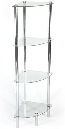 Vitros Homy Dekosäule Regal Glas Klarglas Transparent 1 Boden Glasregal