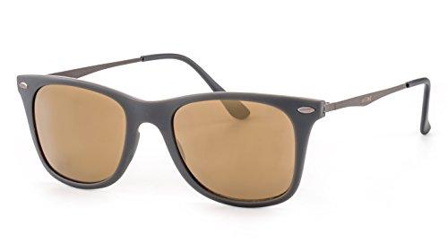 GIN TONIC Leichte Sonnenbrille/Eckige Sonnenbrille in matter Optik für Damen und Herren F2502508