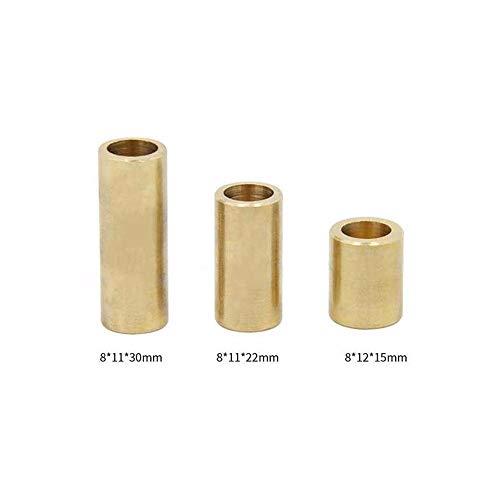 Mayitr Messing Kupferhülse Lager Selbstschmierung Hülse Buchse für 3D Drucker Slider 8 * 12 * 15mm/8 * 11 * 30mm/8 * 11 * 22mm, 8x11x30mm