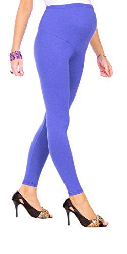 FUTURO FASHION - Leggings de maternidad muy cómodos - Algodón - Todas las tallas - Azul real - Talla EU 48