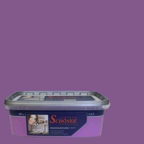 Wilckens Wandfarbe einfach Schöner Farbwelten, 2,5 L, Zauberh. violett 13740826080