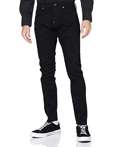 G-STAR RAW Revend Skinny Jeans, Pitch Black B964-A810, 24W / 26L Uomo