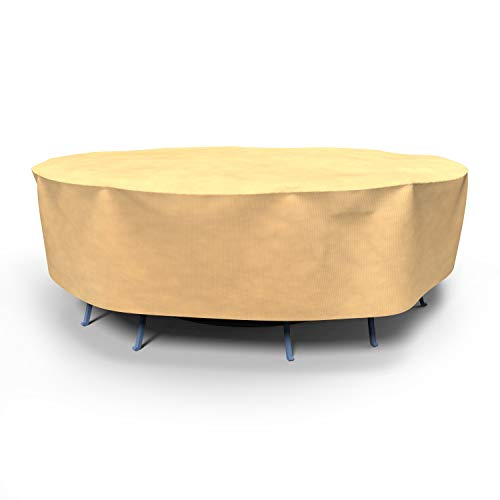 """EmpirePatio Classic Nutmeg Round Patio Table and Chairs Combo Cover, 100"""" Diameter x 30"""" Drop"""