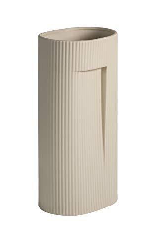 KØZY LIVING Vase matt aus Keramik Serra - Moderne Tischvase zur Dekoration mit Blumen oder Pampasgras - Skandinavisch, Nordic Style - Creme/beige - 24 cm hoch