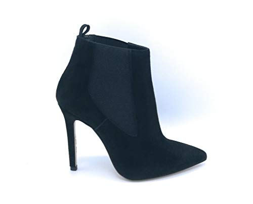 Noa TM 403 Stiefel, Wildleder, schwarz, elastisch, Lurex-Absatz, 10 cm - Schuhgröße 37 Farbe Schwarz