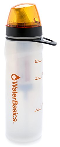 WaterBasics 67256 Filtered Water Bottle Green Line Series II, 80-Gallon
