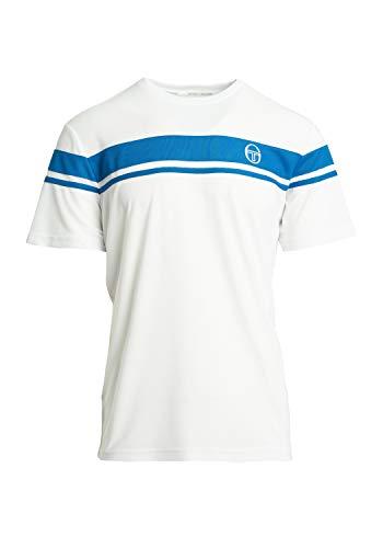 Sergio Tacchini Camiseta para hombre Young Line Pro White/Royal XXXL