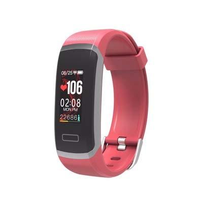 LZW Multifunktionale Intelligente Uhr, Fitness-Armband, Männer Und Frauen Können Farbdisplay Sportarmband, Kompatibel Mit Android IOS,Silver red