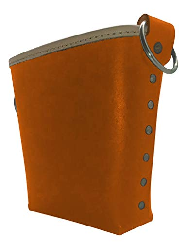 Leather Gold 3875-ORN Bolt Bag with 2 Spud Wrench Holders, Wide Mouth | Ironworker Bolt Bag | Premium, Ultra Durable Buffalo Leather | Commercial Grade Sliding Tool Belt Accessory | Medium Size Pouch