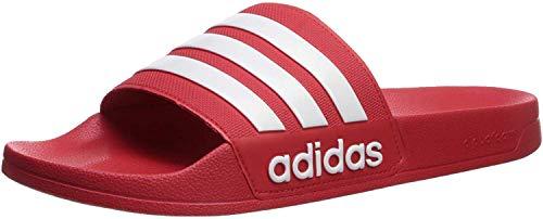 adidas Men's Adilette Shower Slide, Scarlet/Core White/Scarlet, 10