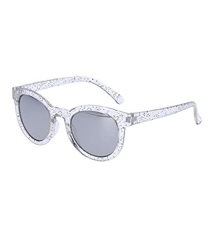 SIX Sonnenbrille für Kinder mit Glitzer-Rahmen, Linsen-Kategorie 3, verspiegelt, UV400-Filter (630-009)