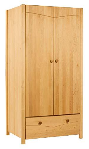 BioKinder 22157 Luca Schrank Kinder-Kleiderschrank aus Massivholz Erle 165 x 80 x 60 cm