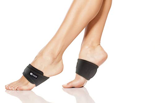 Copper Compression Adjustable Padded Arch Support - 2 Plantar Fasciitis Sleeves. Guaranteed Highest Copper Arch Supports. Planter Fasciitis Support Braces Foot Care Feet (Adjustable Padded Support)
