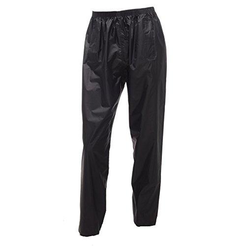 "Adults Regatta Stormbreak Waterproof Over Trousers Mens Womens Ladies Unisex W308 (Large 36""-37"" Waist, Black)"