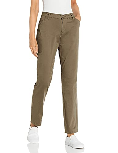 LEE Women's Relaxed Fit All Day Straight Leg Pant, 10 Long, deep breen